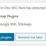 All in One SEO Packの警告メッセージ Google XML Sitemapsとの競合