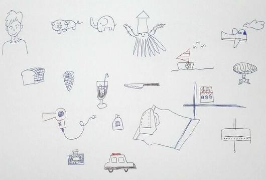 「ボールペンでかんたんイラスト帳」を買ってボールペンでイラストを描いてみた。