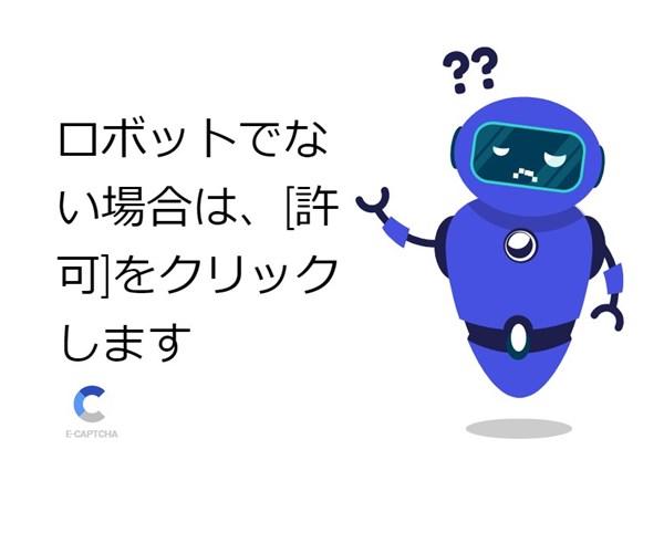 ロボットでない場合は、[許可]をクリックします